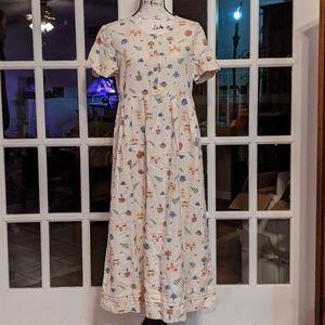 Land's End linen cotton tea party dress 6